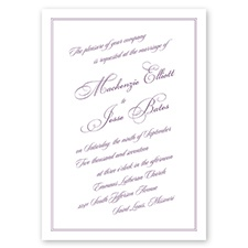 Enchanted Garden - Wisteria - Invitation