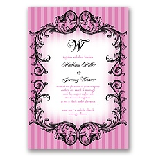 French Flourish - Begonia - Invitation