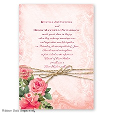 Regal Roses - Apple - Invitation
