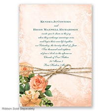 Regal Roses - Golden - Invitation