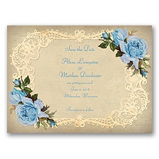 Inspiring Vintage Roses - Cornflower - Save the Date