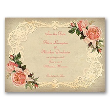 Inspiring Vintage Roses - Guava - Save the Date