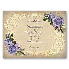 Inspiring Vintage Roses - Lapis - Save the Date
