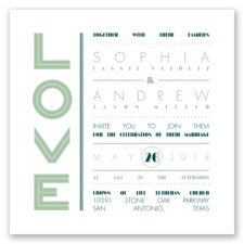 Typography Love Letterpress - Meadow - Invitation