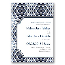 Modern Geometric Letterpress - Marine - Invitation