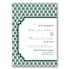 Modern Geometric Letterpress - Meadow - Invitation