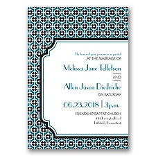 Modern Geometric Letterpress - Oasis - Invitation