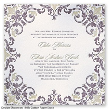 Royal Impression Letterpress - Plum - Invitation