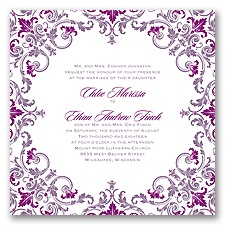 Royal Impression Letterpress - Wisteria - Invitation