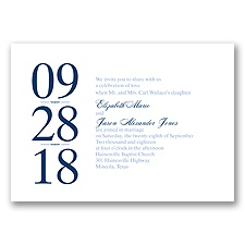 Big Impression Letterpress - Bluebird - Invitation