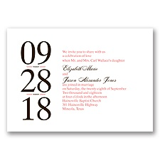 Big Impression Letterpress - Guava - Invitation