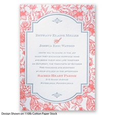 Toile Botanical Letterpress - Mercury - Invitation