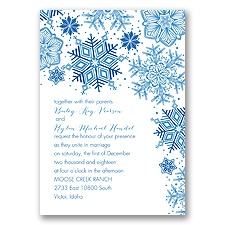 Winter Delight Letterpress - Horizon - Invitation