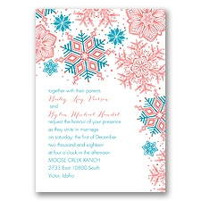 Winter Delight Letterpress - Malibu - Invitation