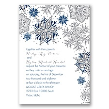 Winter Delight Letterpress - Marine - Invitation