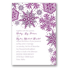 Winter Delight Letterpress - Wisteria - Invitation