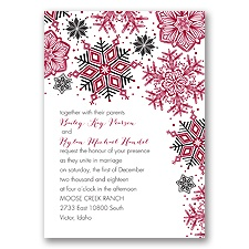 Winter Delight Letterpress - Black - Invitation