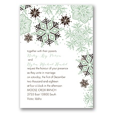 Winter Delight Letterpress - Chocolate - Invitation