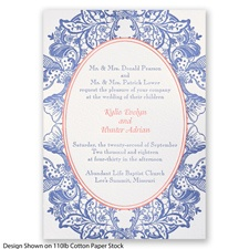 Nature's Splendor Letterpress - Marine - Invitation