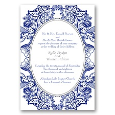 Nature's Splendor Letterpress - Regency - Invitation