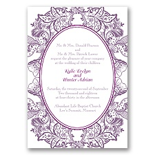 Nature's Splendor Letterpress - Wisteria - Invitation