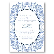 Nature's Splendor Letterpress - Bluebird - Invitation