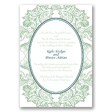 Nature's Splendor Letterpress - Meadow - Invitation