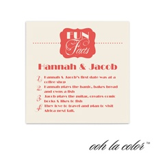 Fun Facts Cocktail Ecru Napkin