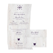 Love Discovered - Plum - Seal and Send Invitation