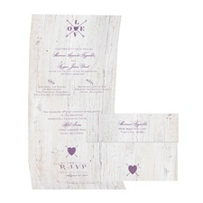 Love Discovered - Wisteria - Seal and Send Invitation