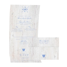 Love Discovered - Bluebird - Seal and Send Invitation