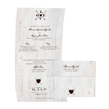 Love Discovered - Chocolate - Seal and Send Invitation