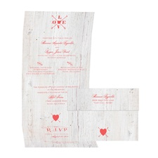 Love Discovered - Guava - Seal and Send Invitation