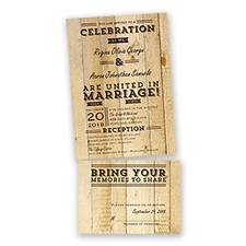 Rustic Typography - Chocolate - Value Set Invitation