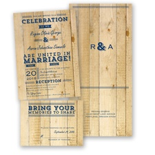 Rustic Typography - Marine - Value Set Invitation