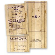 Rustic Typography - Plum - Value Set Invitation