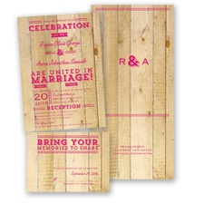 Rustic Typography - Watermelon - Value Set Invitation