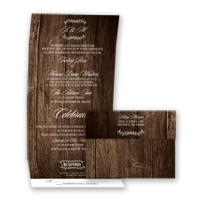 Rustic & Refined - Seal and Send Invitation