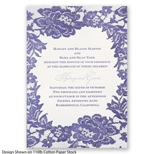 Surrounded in Lace Letterpress - Lapis - Invitation