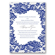 Surrounded in Lace Letterpress - Regency - Invitation