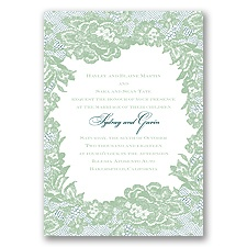 Surrounded in Lace Letterpress - Meadow - Invitation