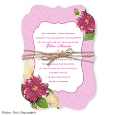 Floral Serenade - Begonia - Invitation