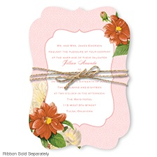 Floral Serenade - Coral Reef - Invitation
