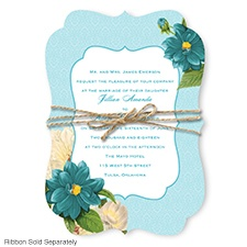 Floral Serenade - Malibu - Invitation