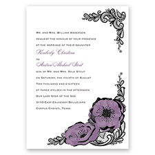 Lasting Love - Wisteria - Invitation