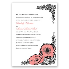 Lasting Love - Coral Reef - Invitation