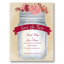 Vintage Canning Jar - Apple - Save the Date