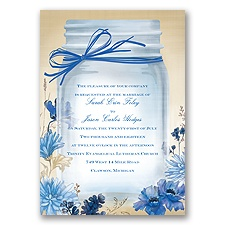 Vintage Canning Jar - Horizon - Invitation