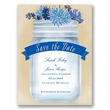 Vintage Canning Jar - Horizon - Save the Date