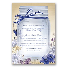 Vintage Canning Jar - Regency - Invitation